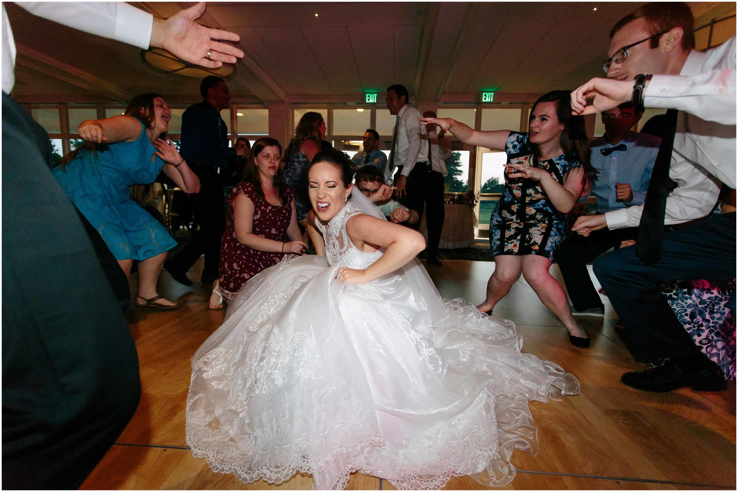 Chic New Hampshire Wedding at Manchester Country Club Bedford - bride dancing