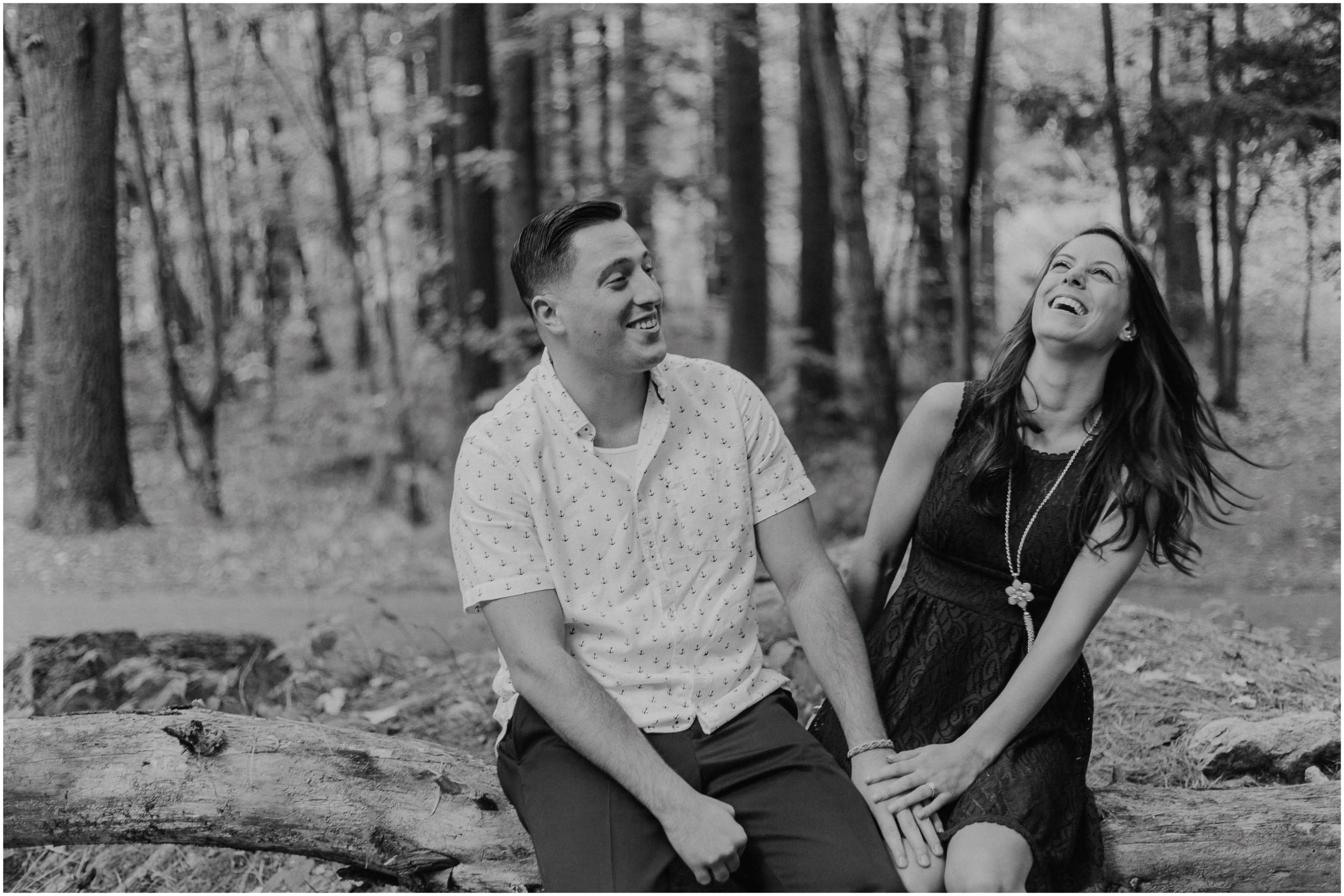 Woodsy New Hampshire Engagement at Mine Falls Park in Nashua