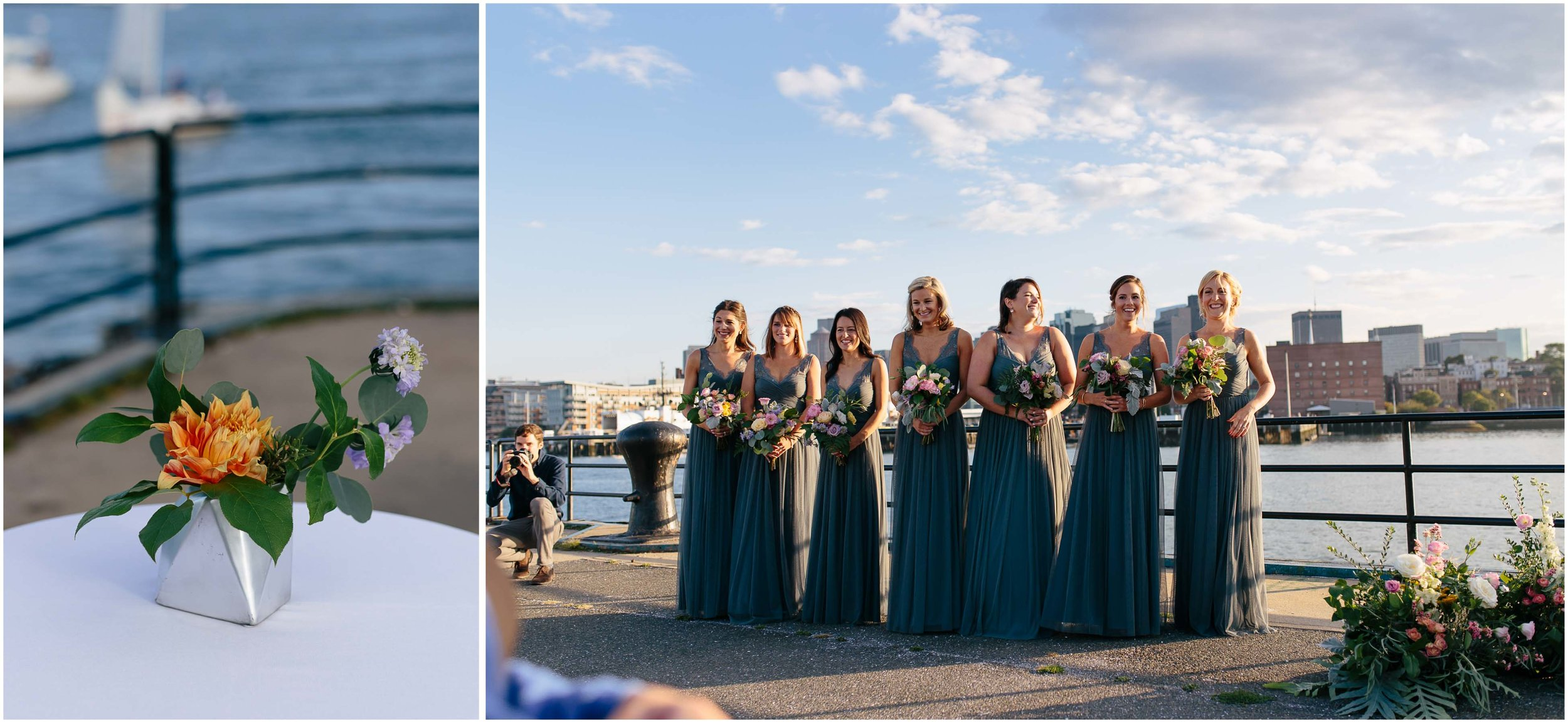 Nautical Massachusetts Jewish Wedding in the Boston Navy Yard ceremony