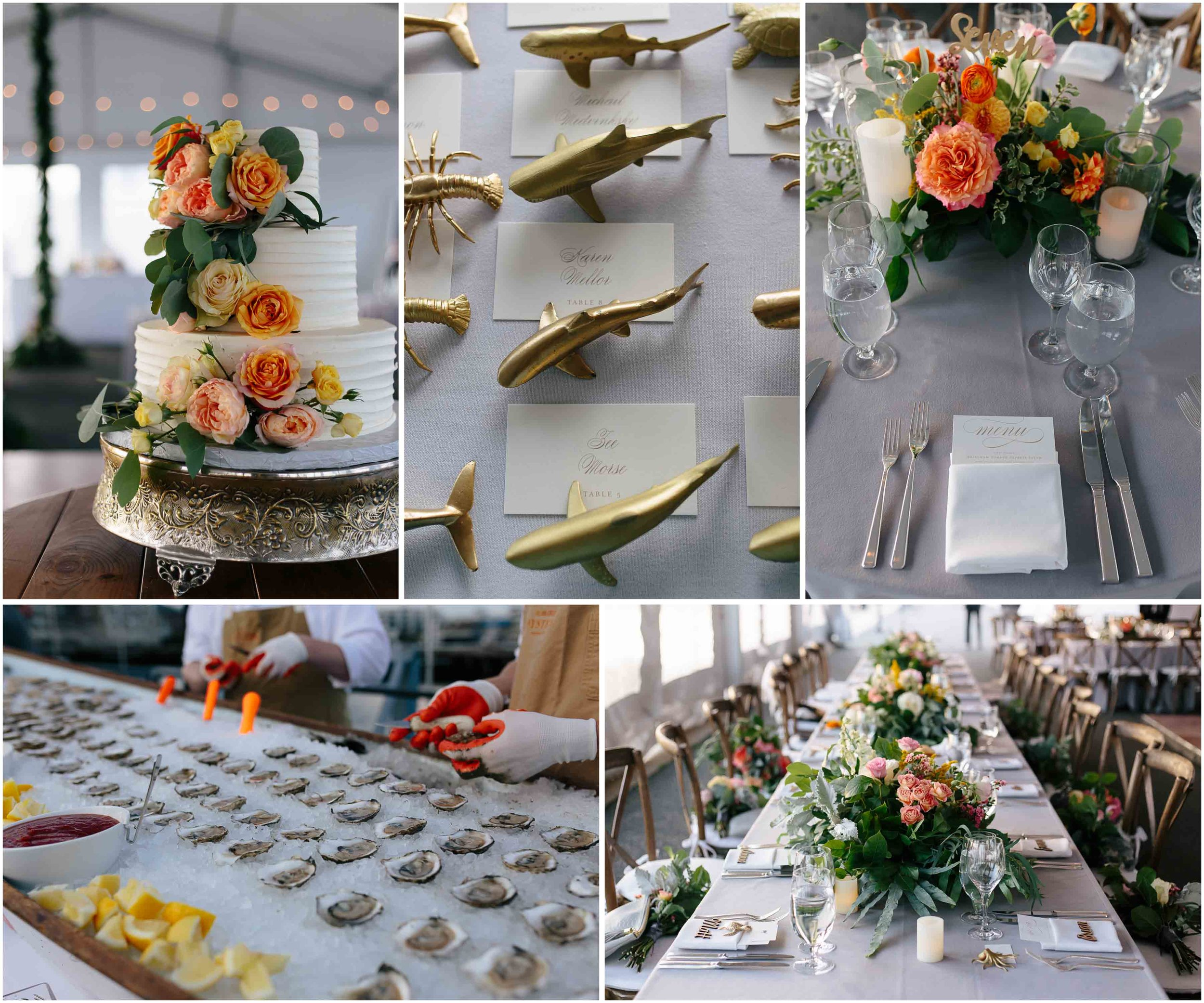 Nautical Massachusetts Jewish Wedding in the Boston Navy Yard reception