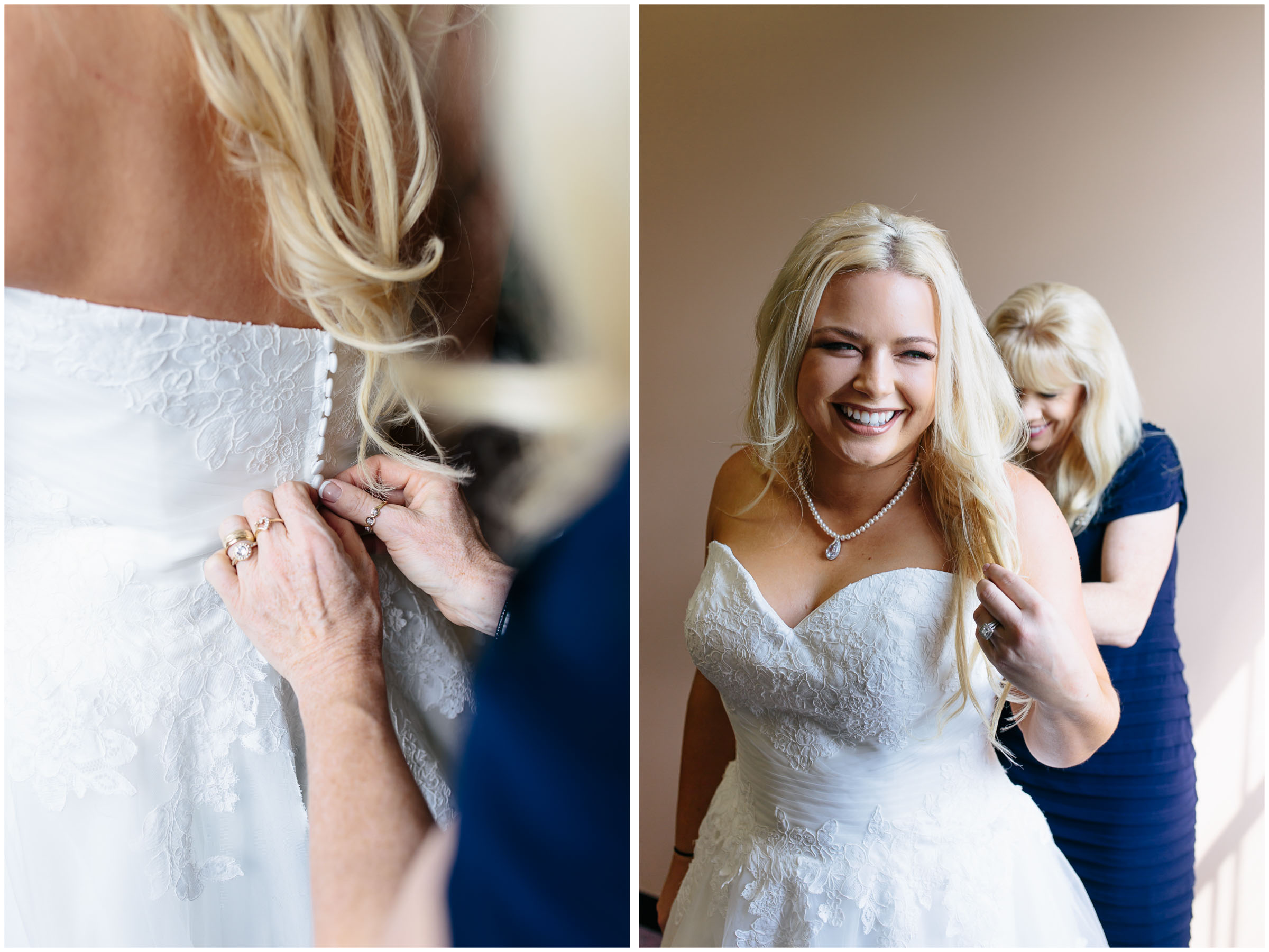 Cozy Country Church Wedding in Pepperell, Massachusetts bride and mother