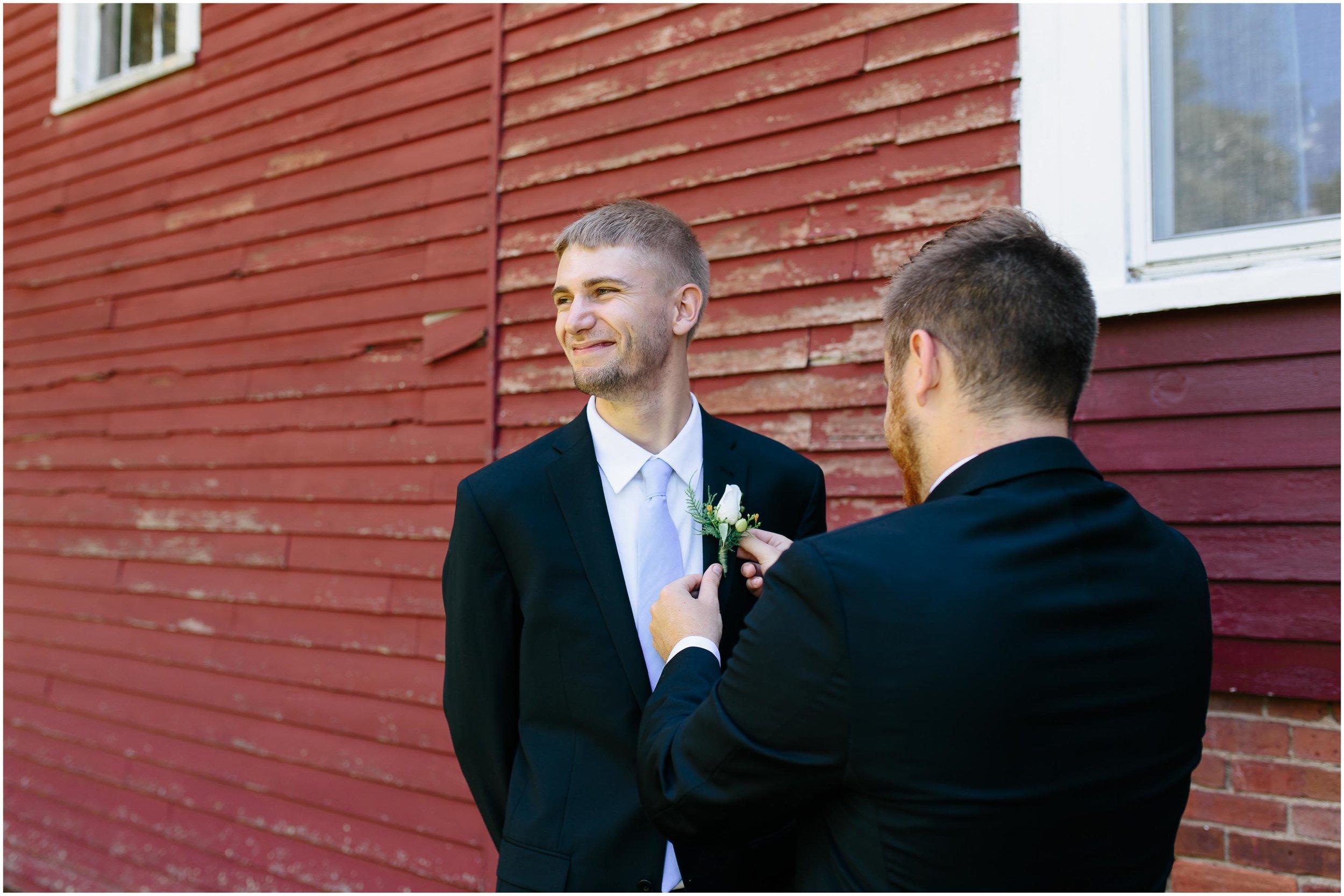 Cozy Country Church Wedding in Pepperell, Massachusetts groom