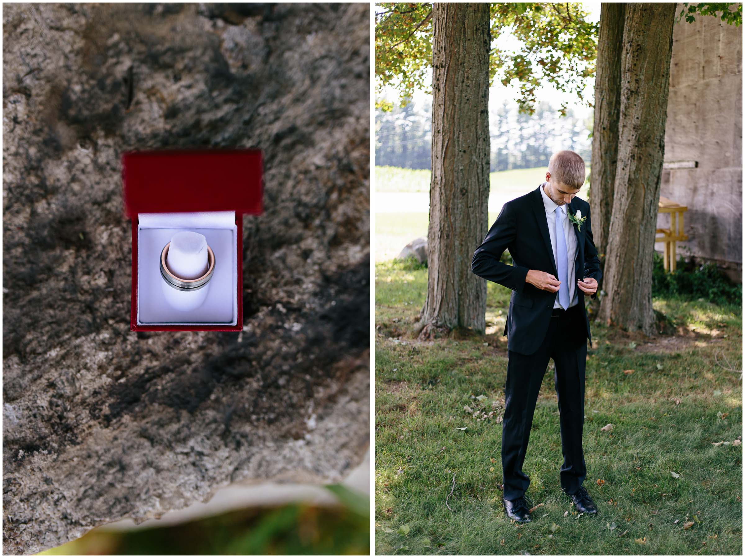 Cozy Country Church Wedding in Pepperell, Massachusetts groom and ring