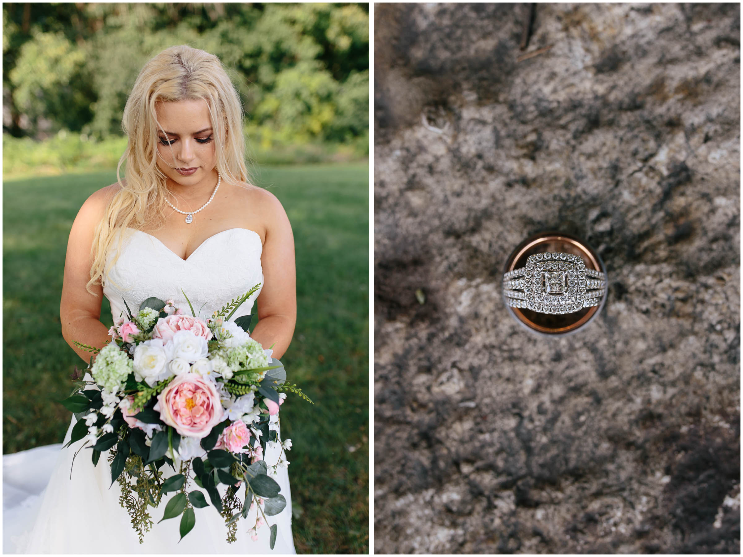 Cozy Country Church Wedding in Pepperell, Massachusetts bride and rings