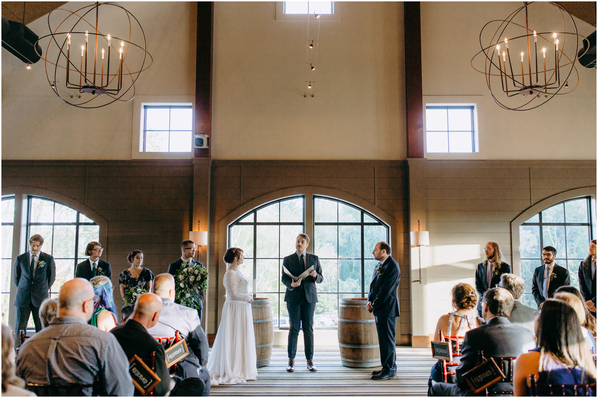 Bright ceremony venue - by Ashleigh Laureen Photography at LaBelle Winery in Amherst, New Hampshire