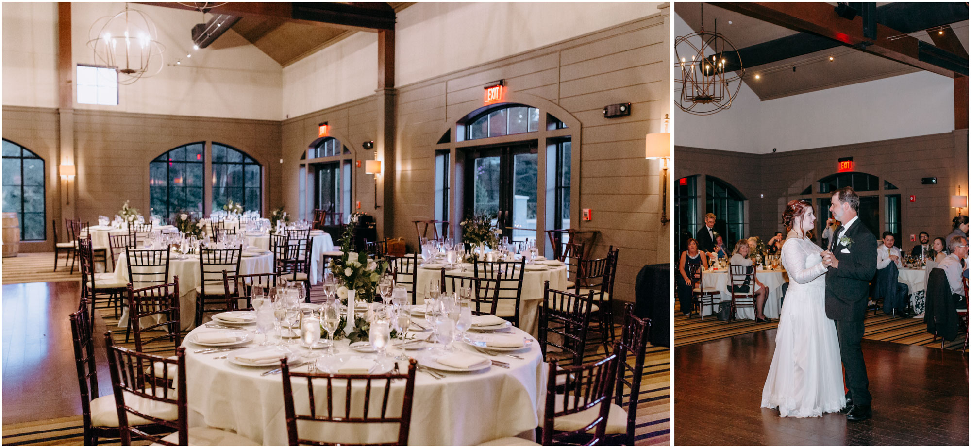 Reception venue - by Ashleigh Laureen Photography at LaBelle Winery in Amherst, New Hampshire