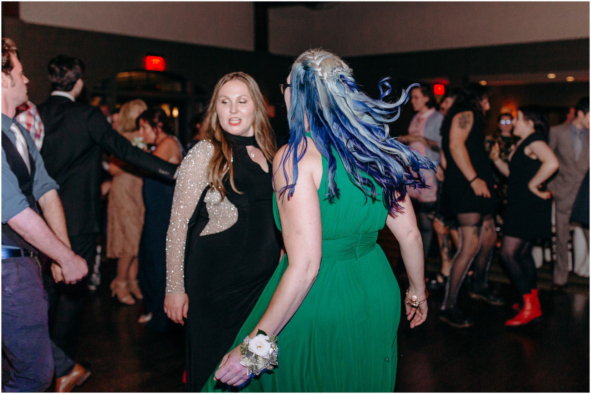 Dancing guests at wedding reception - by Ashleigh Laureen Photography at LaBelle Winery in Amherst, New Hampshire