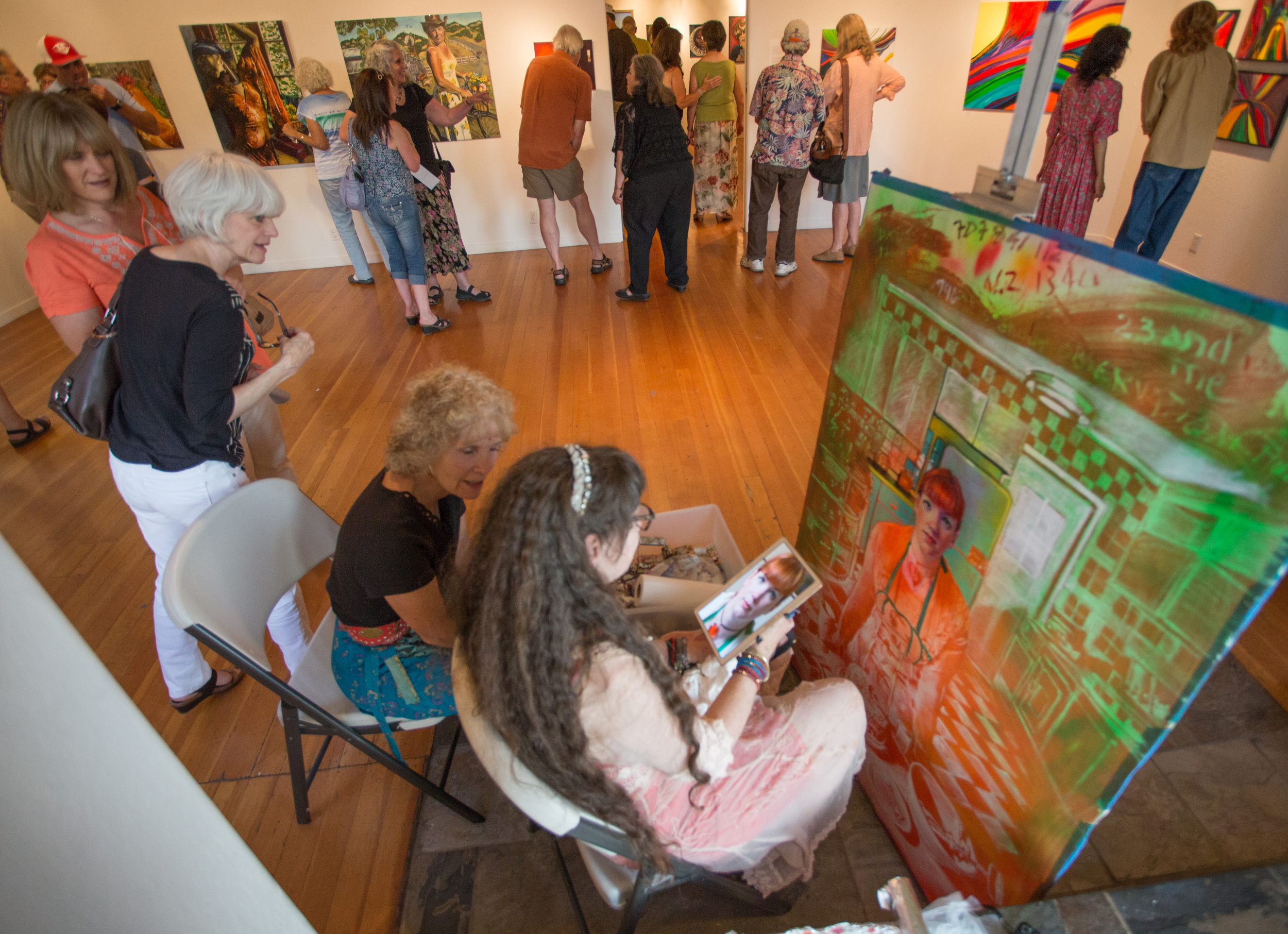 at the willits art center with anne Maglinte