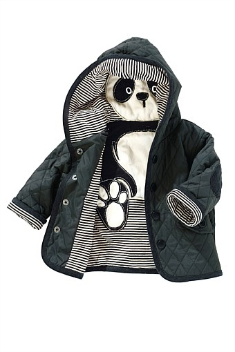 Quilted Panda Peekaboo Toddler Jacket