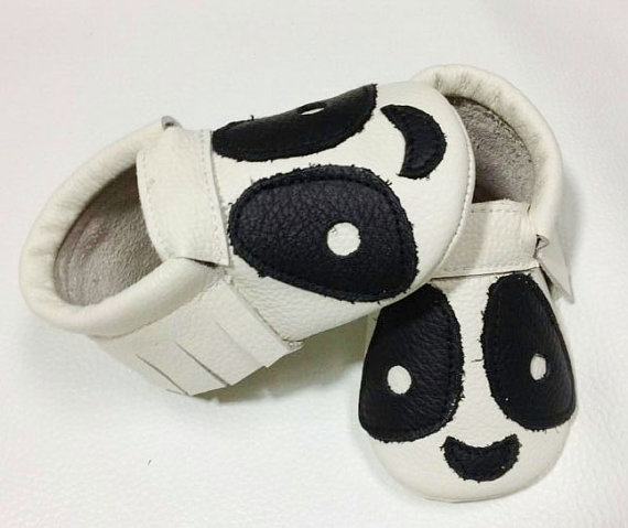 Panda Baby Moccasins
