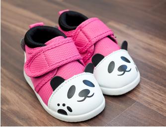 Pink Panda Baby Shoes