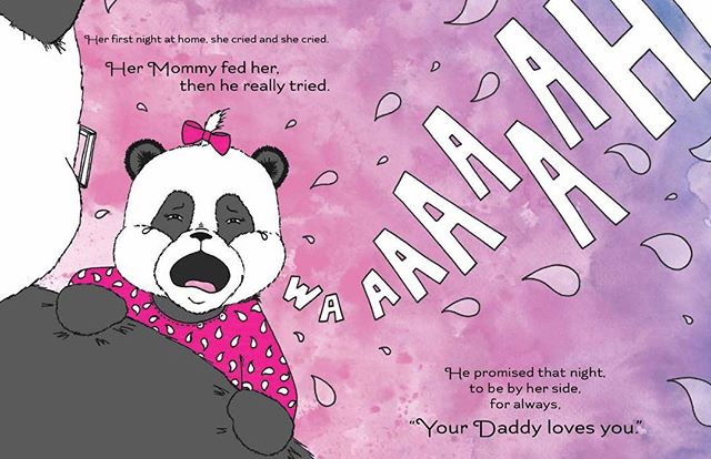 Who needs sleep??? 😳😳😳 Visit www.lovedaddythebook.com and join our e-mail list to enter the book giveaway contest. #nosleep #fathersday #fatherhood #kidlit #kidlitchat #childrensbook #bookgiveaway #bookmarketing #panda #scbwi #selfpublishing #indieauthor