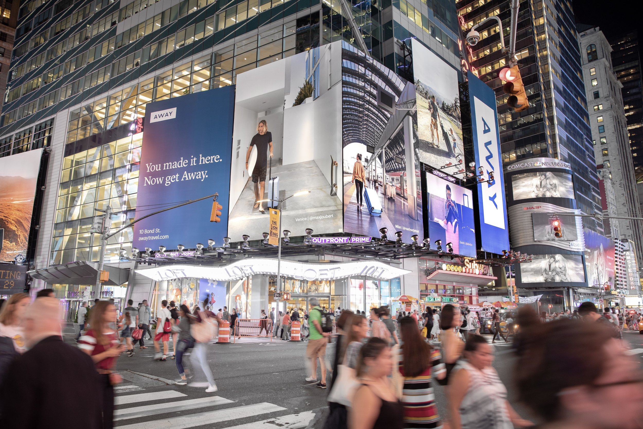 Times Square Tower Campaign
