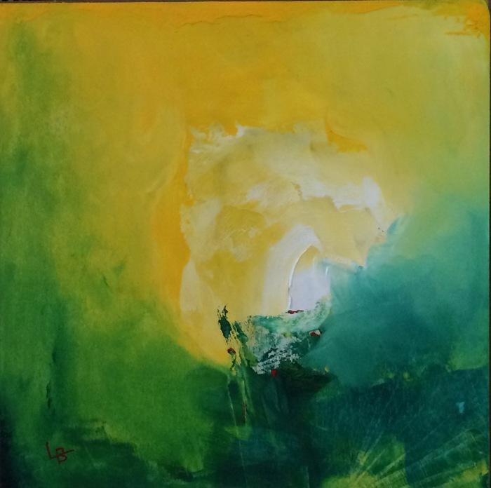 Lauri Borer, Morning through the Mangroves, 2015  Oil on panel  10x10 in.  $400