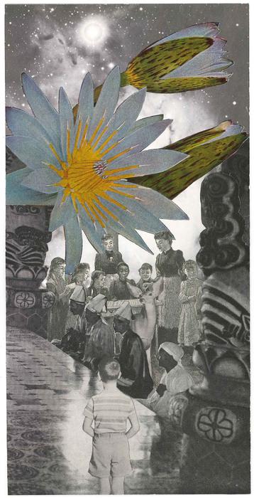 Mischa Brown, Habitat Group , 2015  Collage  9.75 x 5 in.  $850