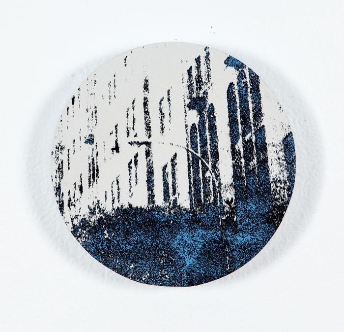 Rachel Bruya, Atmosphere, 2014  Silkscreen  5.5 x 5.5 in.  $300