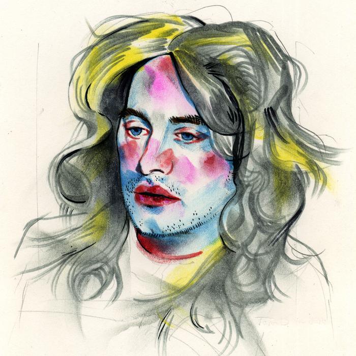Tom DesLongchamp, Dissociation, 2014  Paper, pencil, crayola markers, brush pen  6 x 6 in.  $1,220