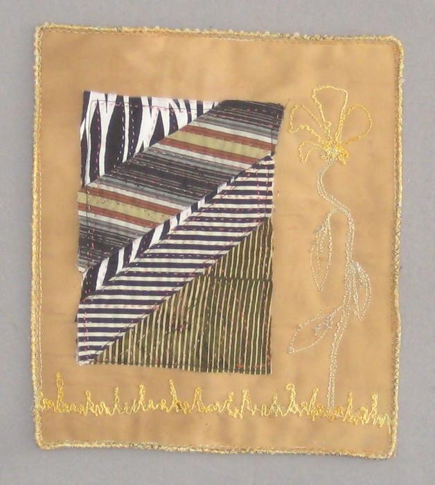 Ann Ferkovich,  Remembering III, 2015  Fabric  10 x 8.75 in.  $100