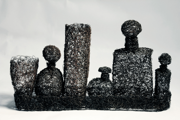 Sheila Ferri, Eclectic Scents, 2013  Wire sculpture  5 x 9 x 2 in.  $700