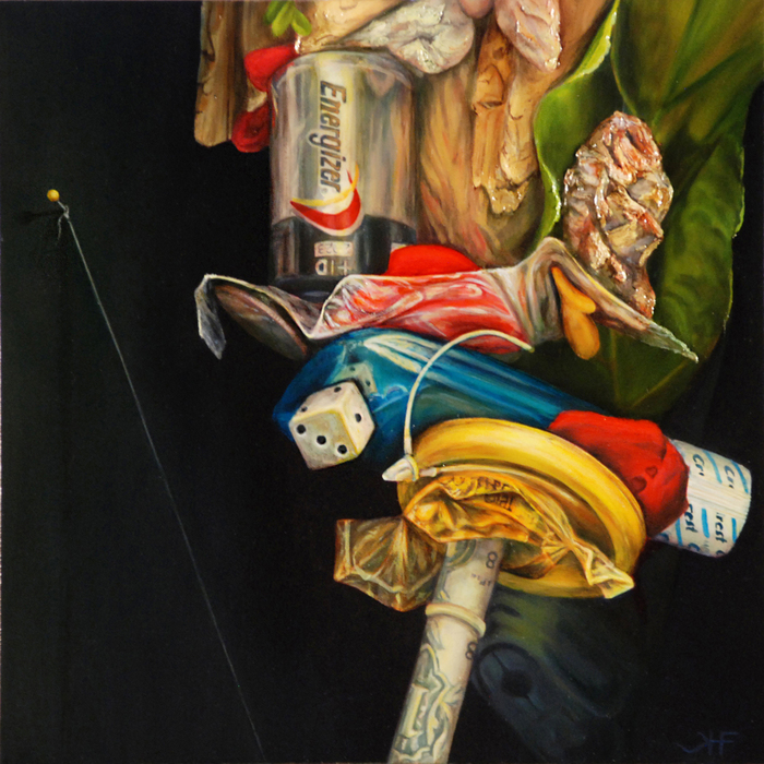 Hannah Freeman, Leading Nowhere, 2013  Oil on panel  8 x 8 in.  $1,050