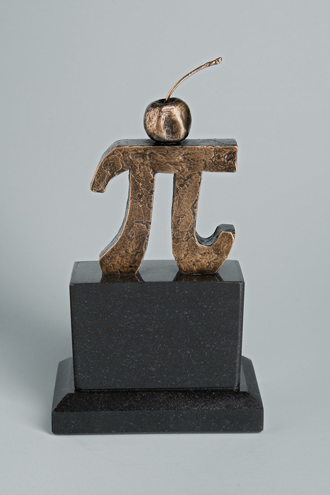 Jim Harman,  Cherry Pi , 2012  Bronze, limited edition of 25  7.5 x 4.25 x 2.5 in.  $1,085