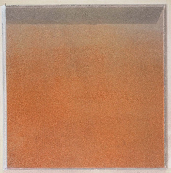 T. A. Harris,  Seeing Roma #1 , 2015  Mixed media  7 x 7 in.  $500