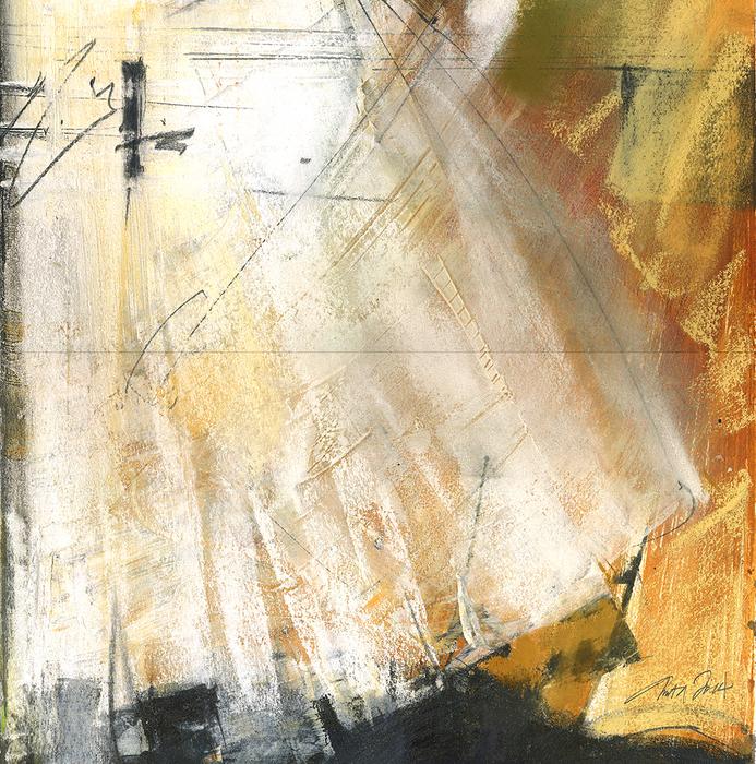 Anita Lehmann, next steps , 2014  Watercolor, pastel  10 x 10 in.  $500