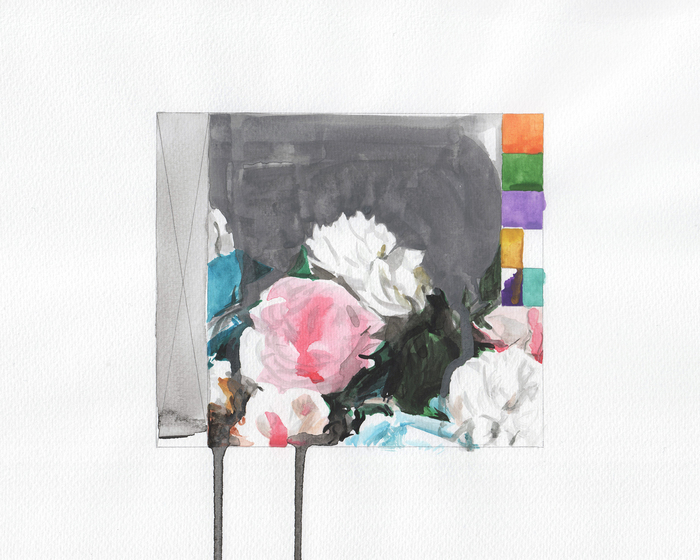 Eric LoPresti, Power Corruption and Lies CD # 1 , 2014  Watercolor, graphite on paper  10 x 8.5 in.  $425