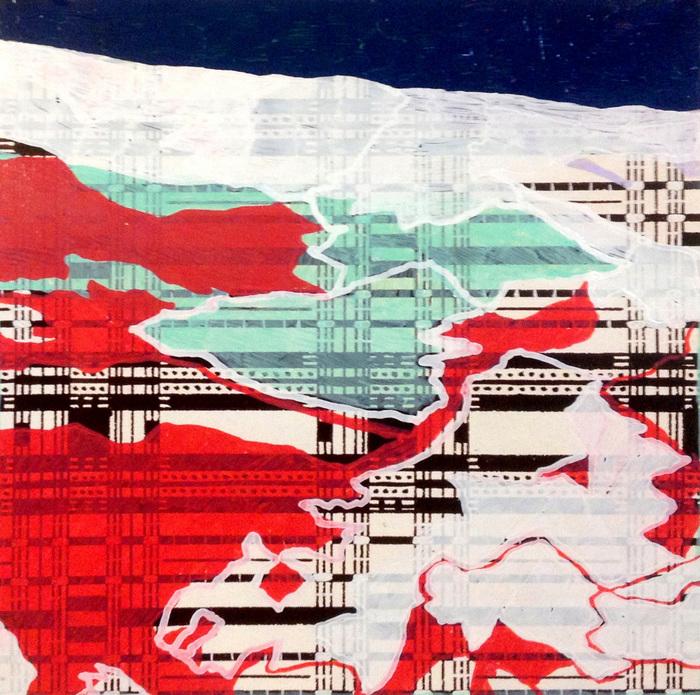 Morgan McAllister,  Halesite , 2014  Oil on paper  8 x 8 in.  $375