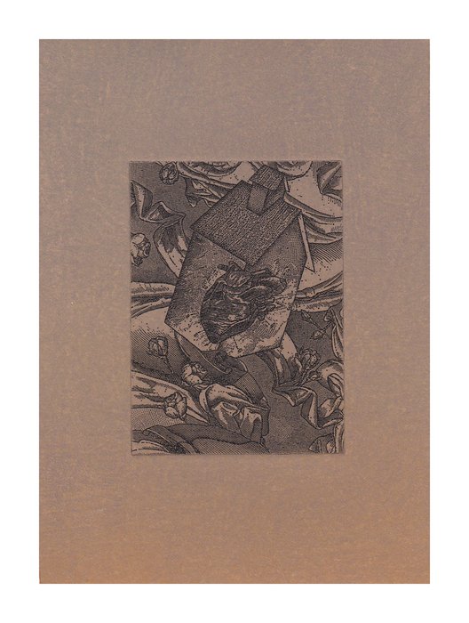 Linda Seckinger, Heart and Home , 2014  Itaglio, collagraph  7 x 5 in.  $200