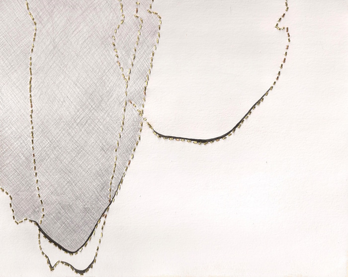 Melissa Walter, people i , 2015  Brass, silverpoint, gouache  7.75 x 9.75 in.  $350