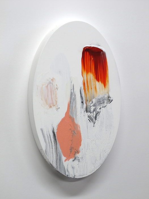 Mary Bucci McCoy, As One , 2013  Acrylic and micaceous iron oxide on plywood  10 x 6 x 1 in.  $1,100