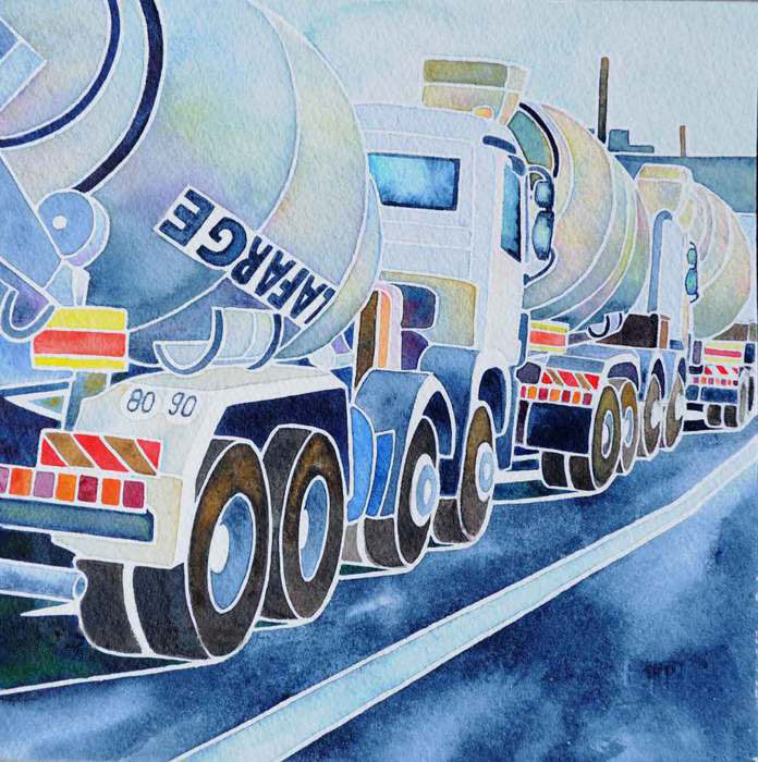 Evelyne Picard, Jeu De Toupies , 2015  Watercolor  10 x 10 x 1 in.  $320