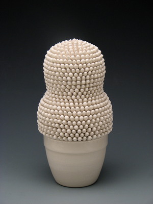 April Felipe, Offering , 2013  Ceramic and mixed media  8.5 x 5 x 4.5 in.  $250