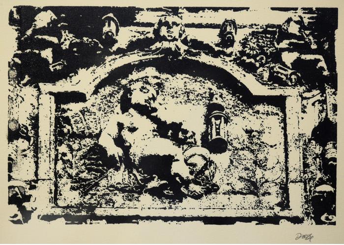 David Lynx   Greyfriar Sleeping , 2013  Serigraph