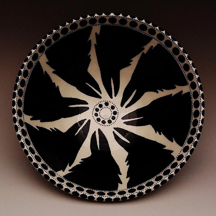 Irene Lawson      Raven Mandala Bowl , 2013     Earthenware with underglazes