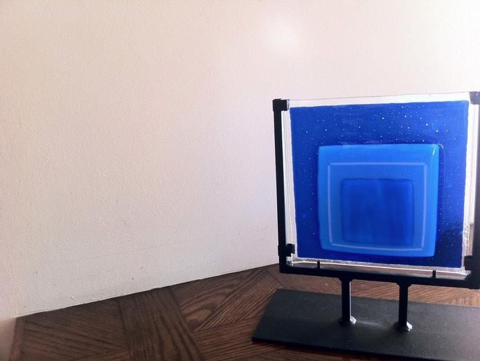 Iris Litt      Homage to Albers , 2010     Fused glass