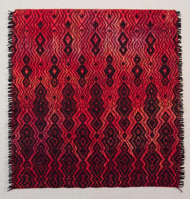 Janice Lessman-Moss     #427B Random Walk Series , 2013    Linen, paper, core, dye, ink, digital weaving