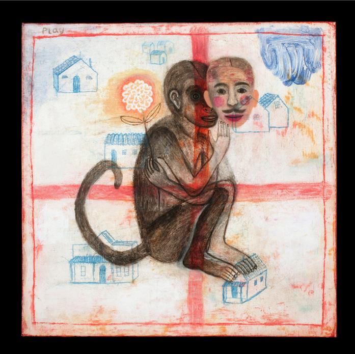 Joanne Hammer      Play , 2010    Oil on paper on panel