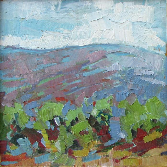 Laura Gable      Lively Hills , 2013     Oil