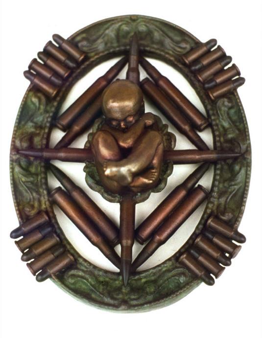 Leitha Thrall      An Unfortunate Framework , 1995     Bronze