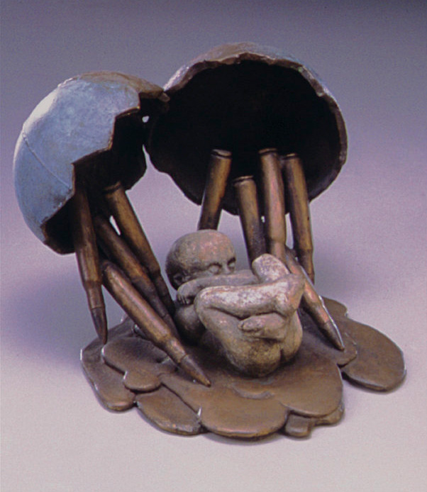 Leitha Thrall    Baby Born Bombarded by Bullets, 1994   Bronze