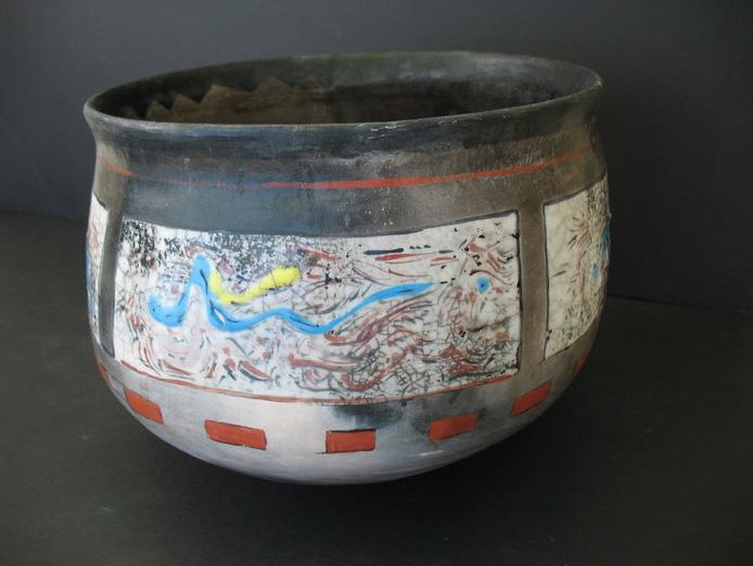 Mike Hiler      Black Smoke Fire 2 , 2013     Ceramic