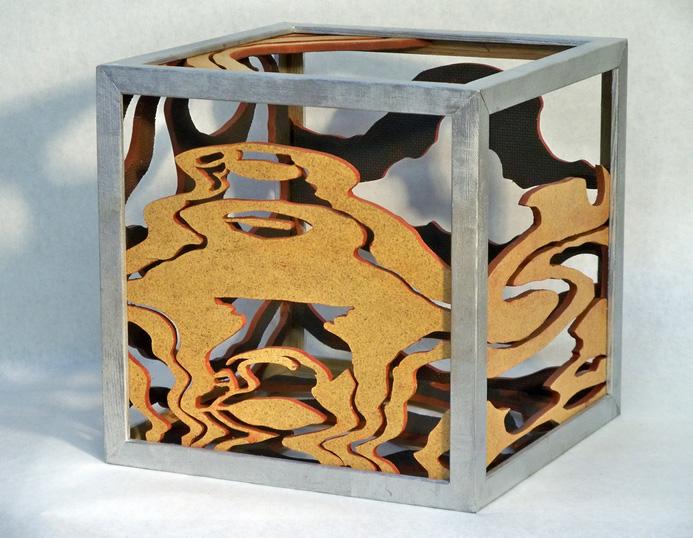 Paul McKee      Divine Portal , 2013     Wood, hardboard, paint