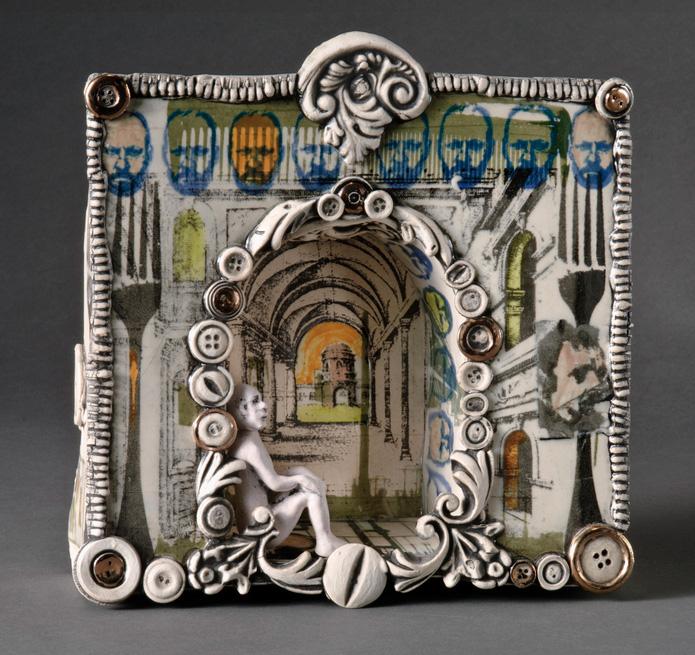 Sigrid Zahner      Boxed Figure , 2013     Ceramic