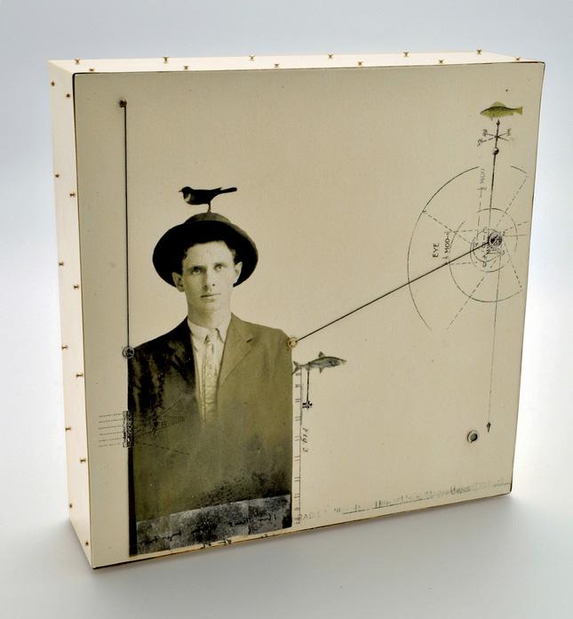 Teresa Harris    Portrait Attribute Bird , 2011     Mixed media, paper, wood, brass, wax, found objects