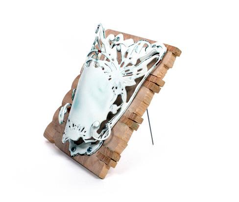 Vincent Pontillo-Verrastro      Domestic I , 2013    Copper enamel, wood, sterling silver, steel
