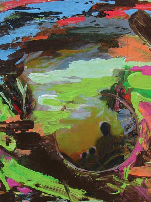 William Buchanan      A Secret Place No. 3 , 2013     Mixed media on canvas