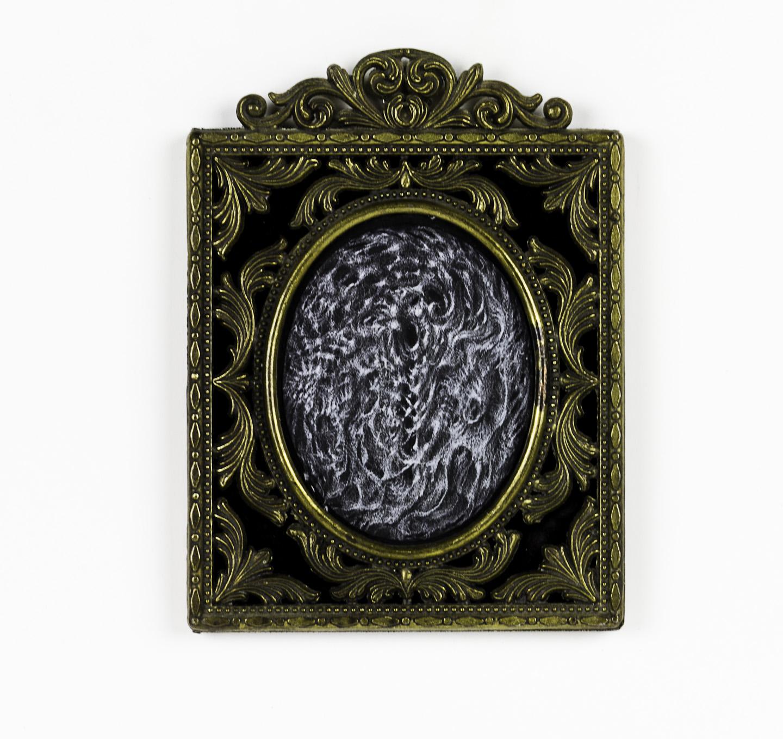 Bette Burgoyne   Ovette , 2010  Black paper, white pencil