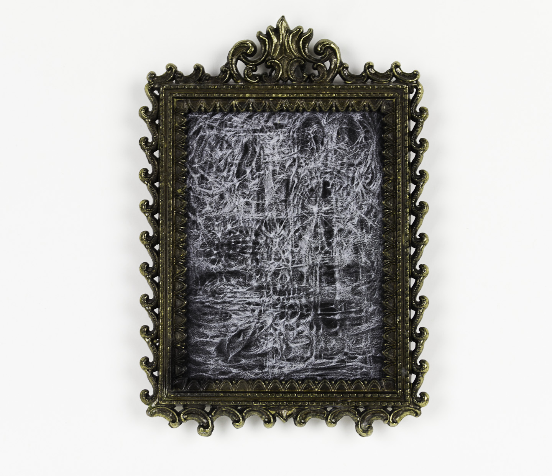 Bette Burgoyne   Three Seconds, 2010  Black paper, white pencil